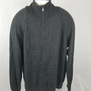 Banana Republic merino wool zip up sweater